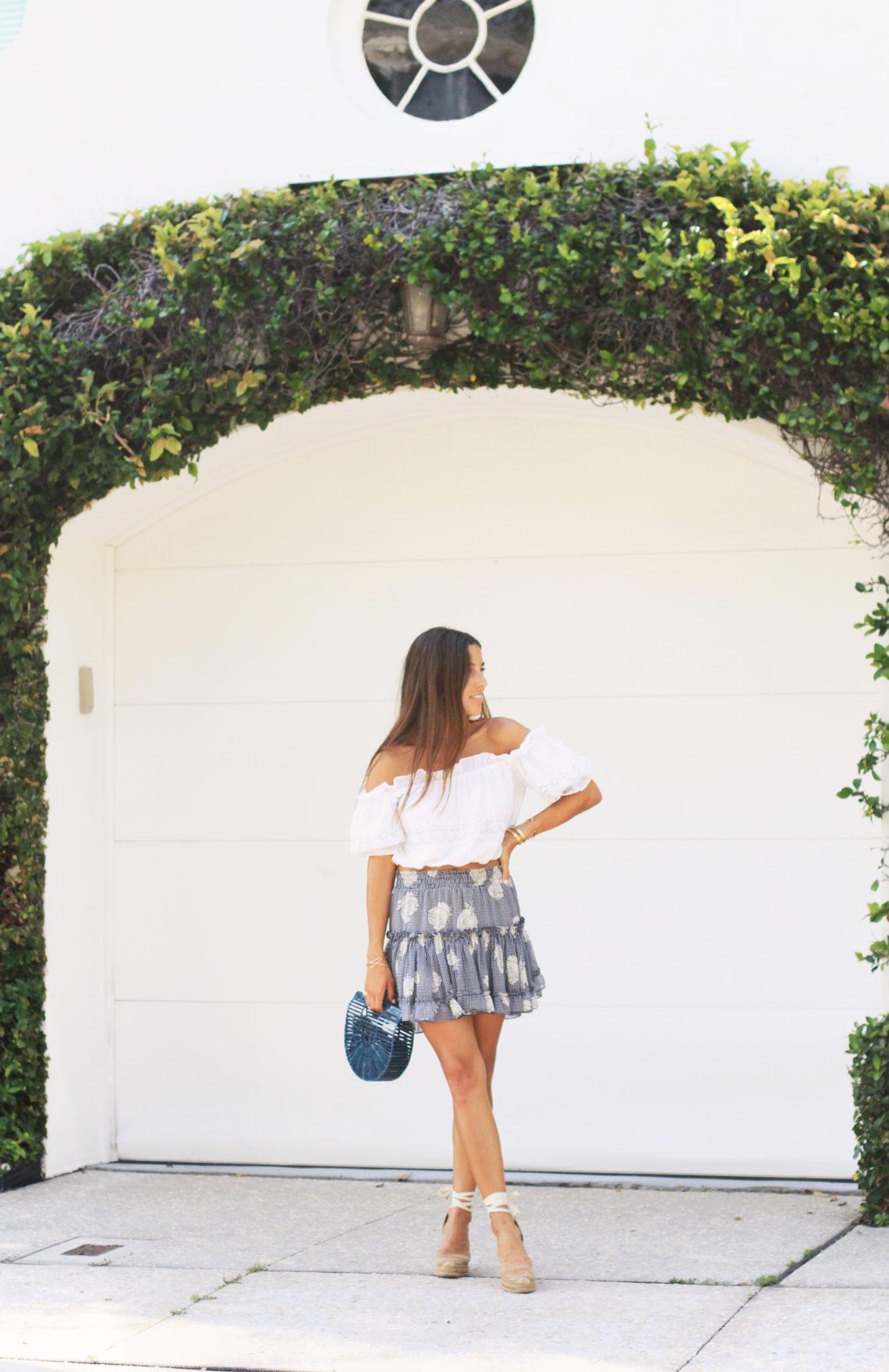 Misa Blue Skirt Crop Top