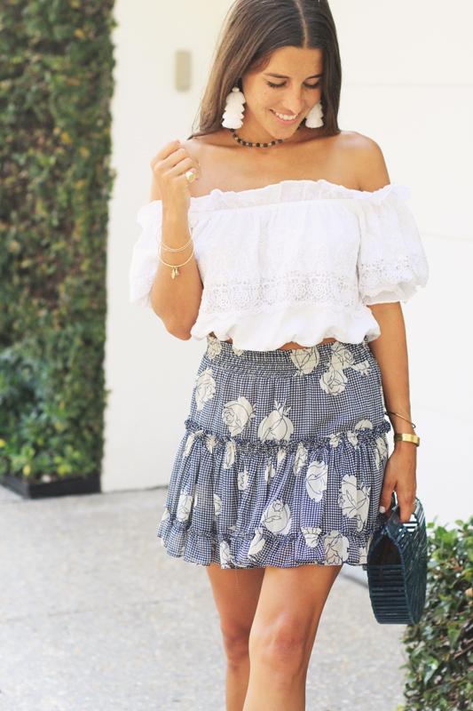 Misa Blue Skirt Details