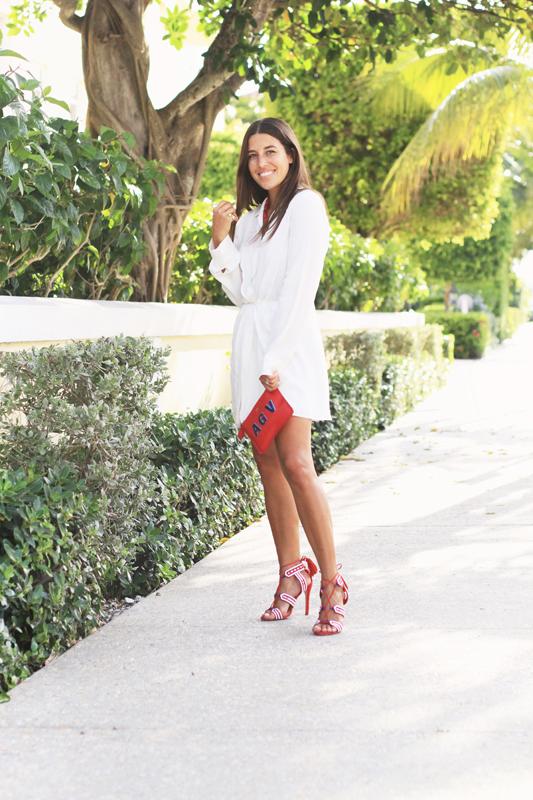 Little White Dress & Red Details by Schutz
