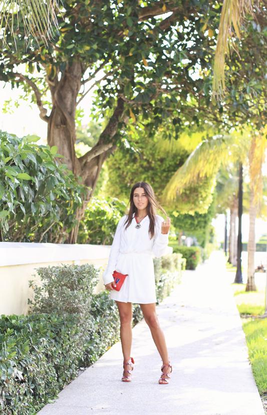 Little White Dress & Red Details 1