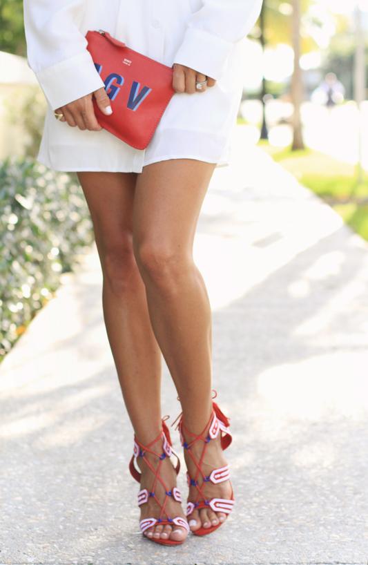 Little White Dress & schultz heels
